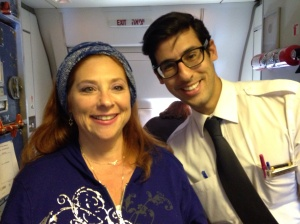 One of the EL flight attendants- my Jason Schwartzman look-alike