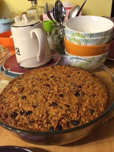 Cranberry oat cake