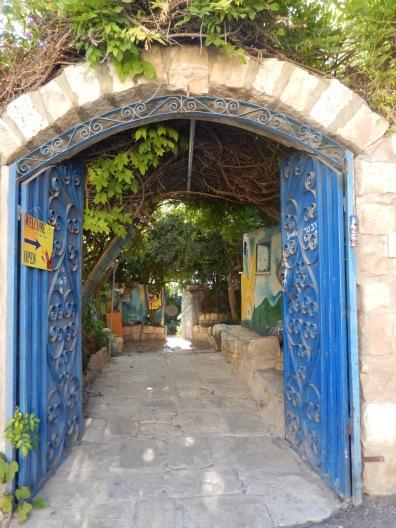 I love the blue door at Sr Vetter pottery