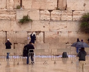 Spring cleaning at the Kotel