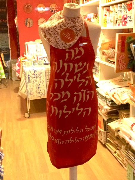 Why is this night different? Pesach apron by Barbara Shaw!!