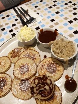 Silan(date syrup) & Halvah pancakes