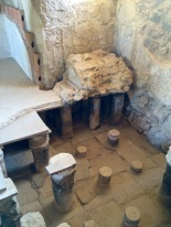 The bricks were heated with coals causing the water under the floor to heat up, escaping through the wall vents as steam. Ancient spa...
