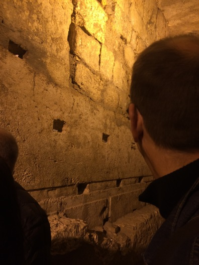 Underground Temple tunnel - the closest one can get to the Holy of Holies