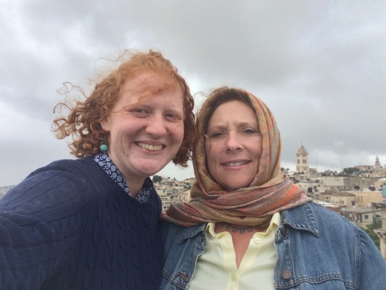 Atop the Austrian Hospice with Liz