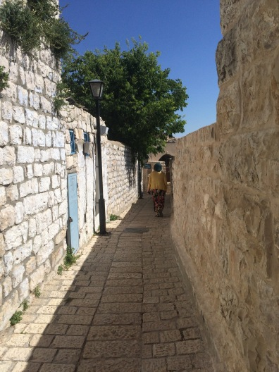 Strolling the stone alleyways of Tsfat