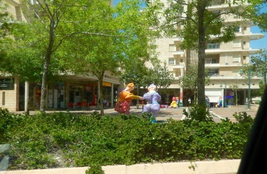 Ramat Rabin, a newer neighborhood of apartments & condos has the best art...