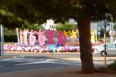 A roundabout celebrates the dance festival