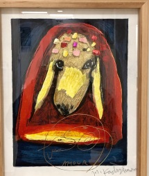 Kadishman '0, Oil, Gold leaf, jewels