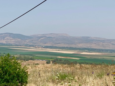 Looking down from the Golan